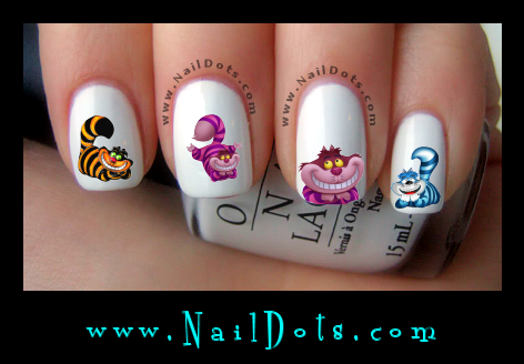 Alice Cat Nail Decals