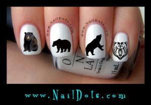 Animal Nail Decals Nail Dots Nail Stickers Nail Art Cute Nails