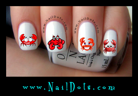 Cute Crabs Nail Decals