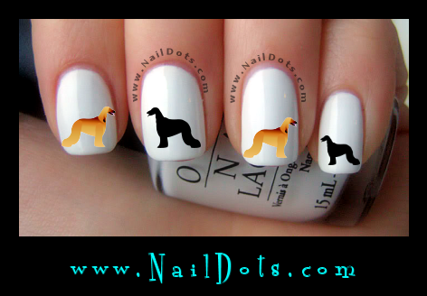 Afghan Hound Nail Decals