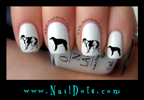 Borzoi Nail Decals
