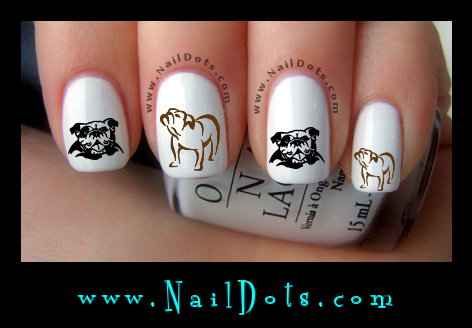 Bulldog Nail Decals