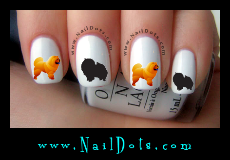 Chow Chow Nail Decals