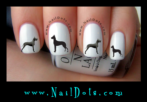 Great Dane Nail Decals