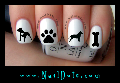 pit bull Nail Decals