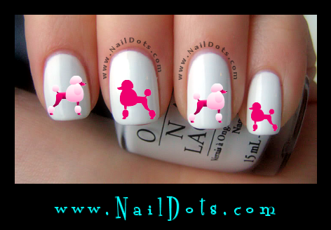 Poodle Nail Decals