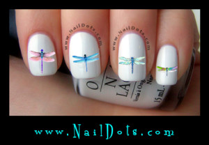 Dragonfly Nail Decals