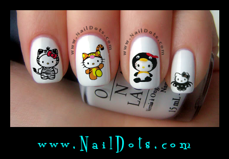 Hello Kitty Dressed Up Nail Decals