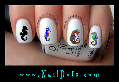 Seahorse Nail Decals