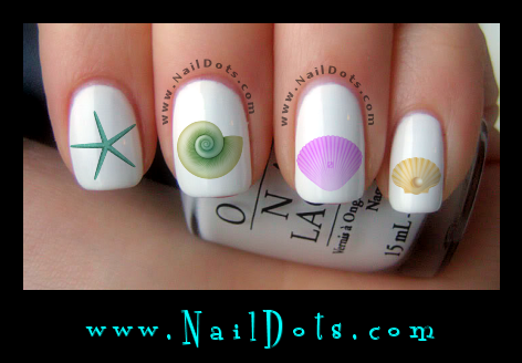 Seashell Nail Decals