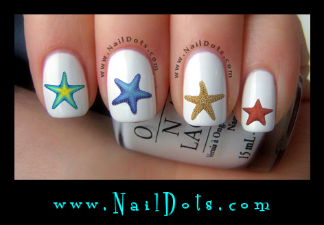 Starfish Nail Decals