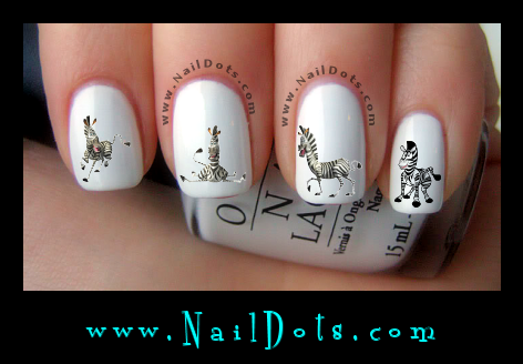 Zebra Nail Decals