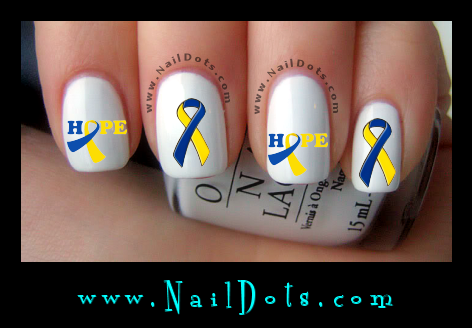 down syndrome Awareness Ribbon Nail Decal