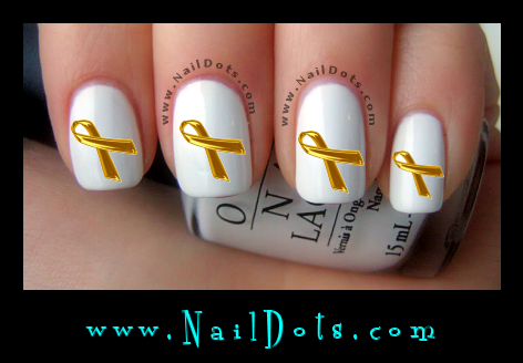 Childhood Cancer Awareness Ribbon Nail Decal