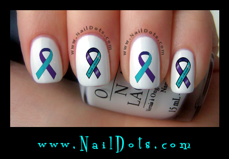 Suicide Awareness Ribbon Nail Decal