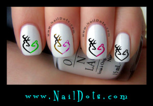 Deer Heart Nail Decals