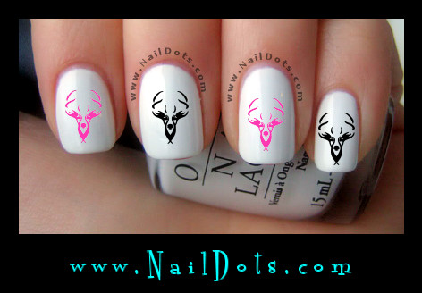 buck deer nail decals