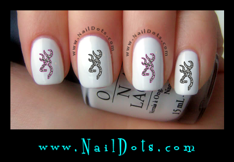 Zebra Deer nail decals