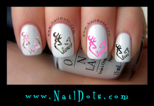 Deer Heart love Nail Decals