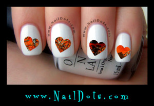 orange camo nail decals
