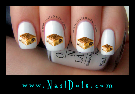 Blonde Brownie Nail Decals