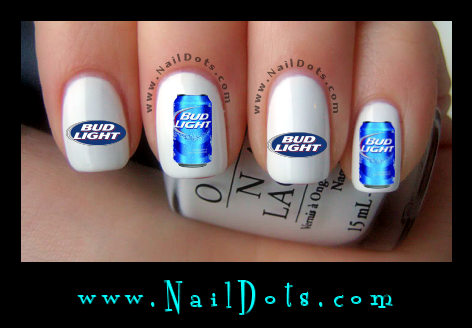 Bud Light Nail Decals