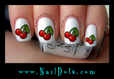 Cherry Fingerail Decals