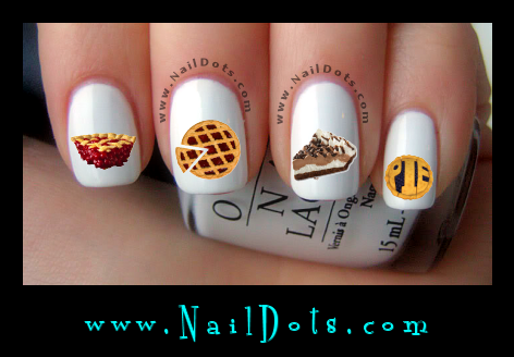 Pie Nail Decals