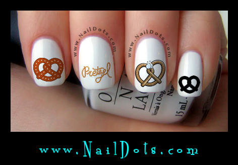 Pretzel Nail Decals