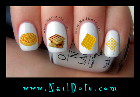 Waffles Nail Decals