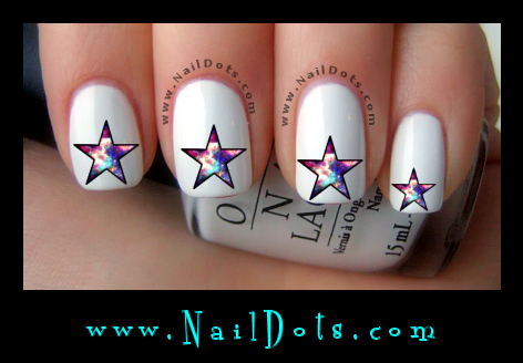 Galactic Star Nail Decals - GS2