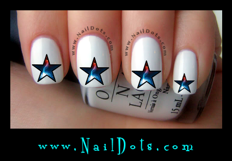 Galactic Star Nail Decals - GS3