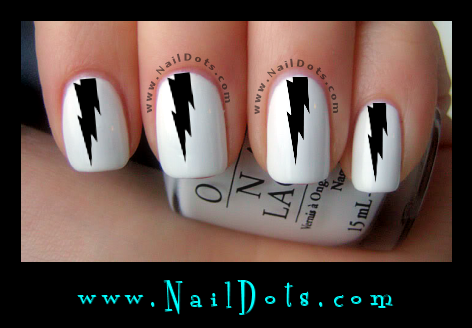 Lightning Nail Decals - GSL