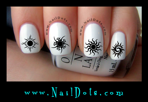 Tribal Sun Nail Decals - GSTS