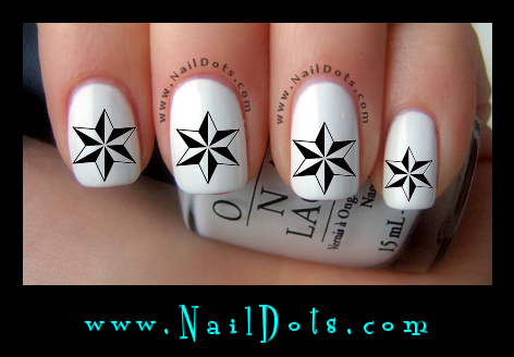 6 Point Starl Nail Decals