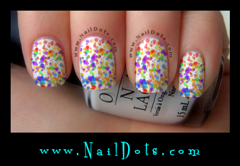 Bubble Nail Decals Dot Nail Decals
