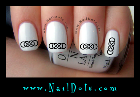 Double Infinity Nail Decals