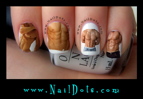 Hot Hunk Nail Decals