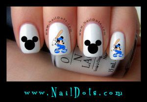 Mickey Baseball Nail Decals