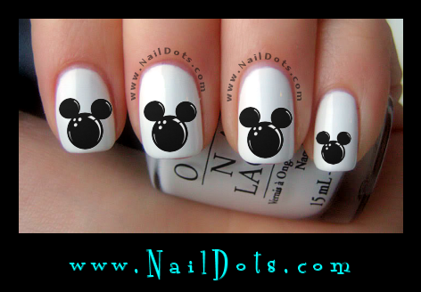 Mickey Bowling Ball Nail Decals