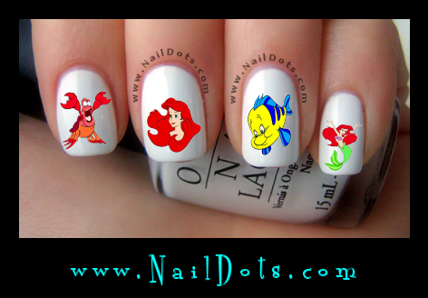 Character Themed Nail Decals