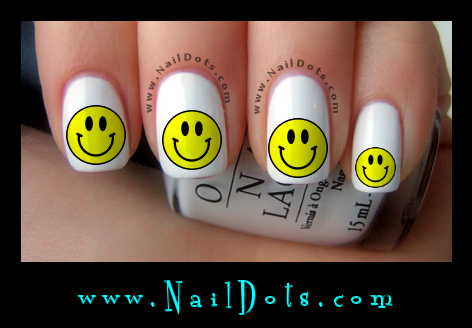 Smiley Face Nail Decals
