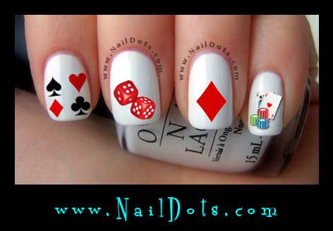 Vegas Card Nail Decals