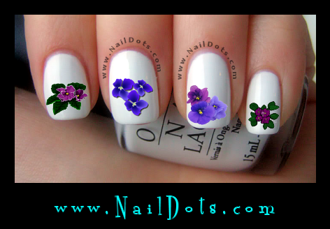 Pretty Violet Nail Decals Violet Nail Decals