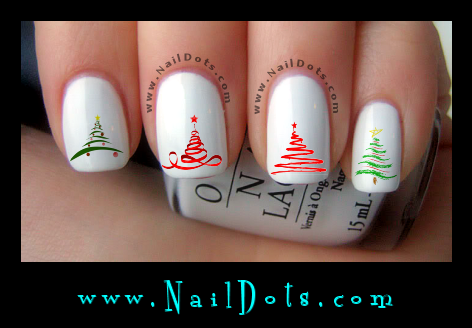 Christmas Tree Nail Decals
