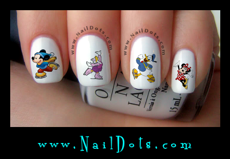 Christmas Nail Decals -  Skating Mickey