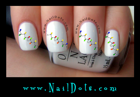 Christmas Light Nail Decals