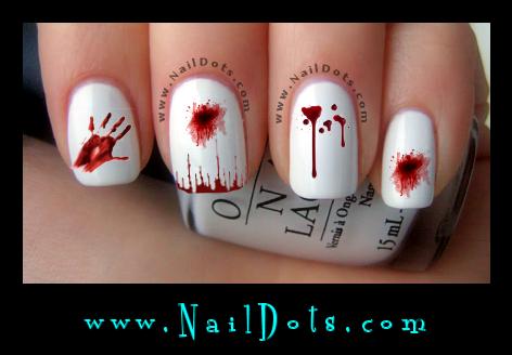 Halloween nail decals nail decals nail dots nail stickers blood splatter nail decals blood splatter nail art prinsesfo Gallery