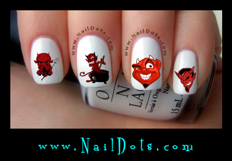 Devils  Nail Decals