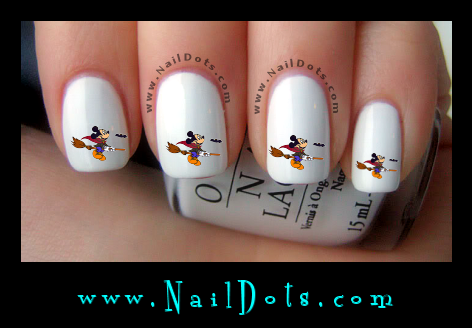 Mickey Broom  Nail Decals